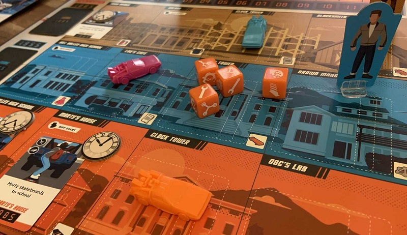 Travel back in time with Doc and Marty in this Back to the Future: Dice Through Time boardgame 5