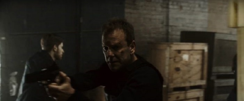 Kiefer Sutherland is in pursuit of Boyd Holbrook in the Quibi remake of The Fugitive 2