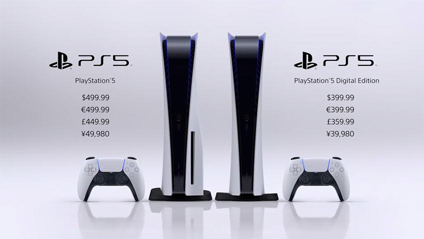 PlayStation 5 priced at $399 and $499, coming November 12 2