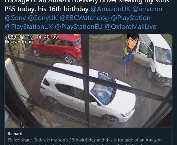 Amazon fires driver who drove off with a PS5 birthday present 5