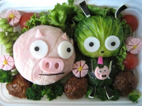 bento - 007 - piggy and GIR