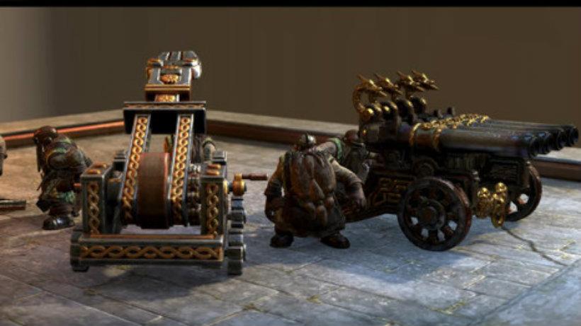 Dwarfen artillery total war warhammer