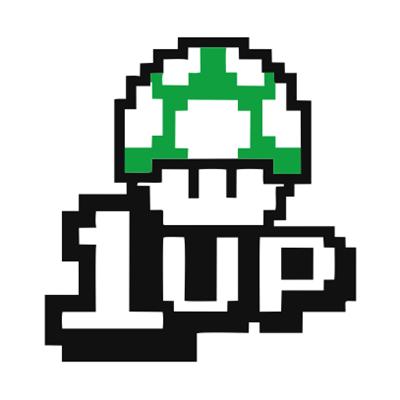 1UP-white