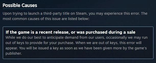 Steam runs out of Blacklist keys