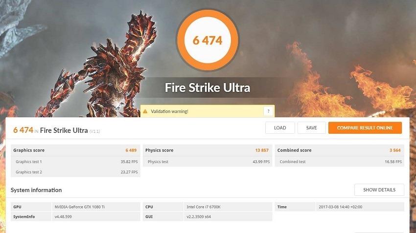 FireStrike Ultra GTX 1080 Ti