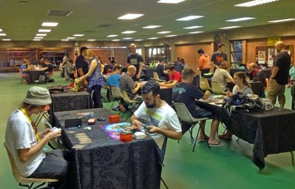 The competitive card game area.