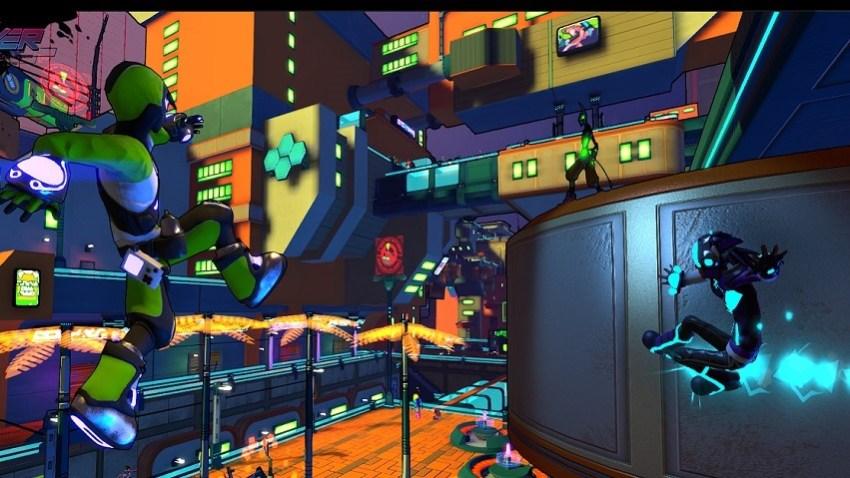 Hover Revolt of Gamers looks a lot like Jet Set Radio 2