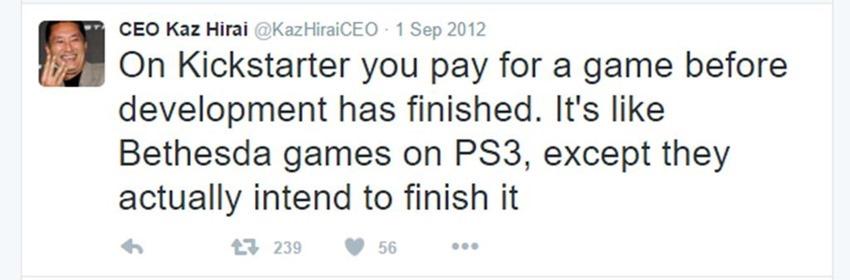 Kaz Hirai tweets (9)