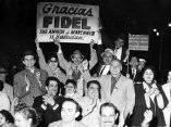 21 de abril. Miembros de la colonia cubana en Nueva York saludan a Fidel. Foto: Revolución.