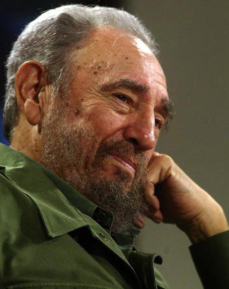 Fidel Castro en Mesa Redonda. Foto: Ismael Francisco/ Cubadebate.
