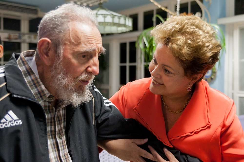 Dilma Rousseff y Fidel Castro. Foto: Alex Castro