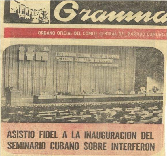 Primer seminario cubano sobre Interferón, en 1983.