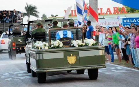 La caravana entra a territorio de Villa Clara. Foto: Periódico Vanguardia
