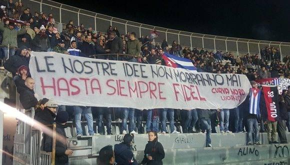 Homenaje al Comandante en Livorno, Italia. Foto: @cuba_en_italia