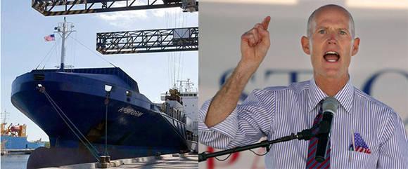 Rick Soctt, gobernador de La Florida amenazó a los puertos que comerciaran con Cuba. Foto: AP/ Cubadebate.