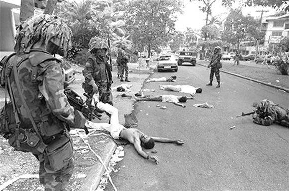 La invasión yanqui de 1989 a Panamá se hizo ante los ojos de la OEA. Foto tomada de contrainjerencia.com
