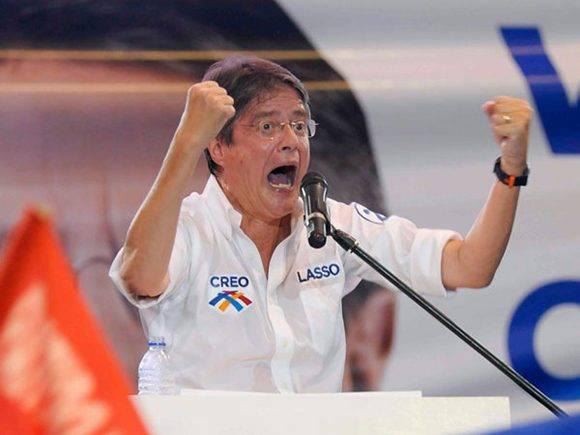 Guillermo Lasso, el banquero que intenta retroceder a Ecuador y reinstaurar el neoliberlismo. Foto tomada de Infoabe.