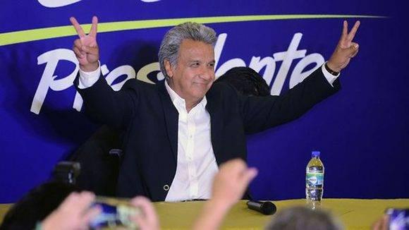 Lenín Moreno, representante de Alianza País en las elecciones de Ecuador. Foto: AFP.