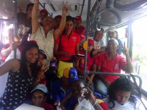 Alegría revolucionaria en Caracas