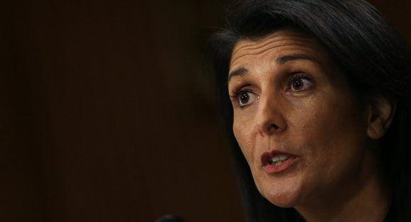 La representante permanente de Estados Unidos ante la ONU, Nikki Haley,