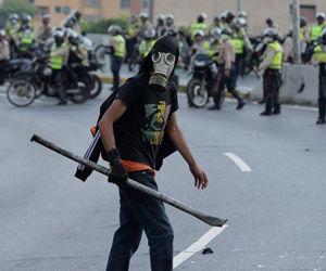 Protestas violentas en Venezuela. Foto: AFP.