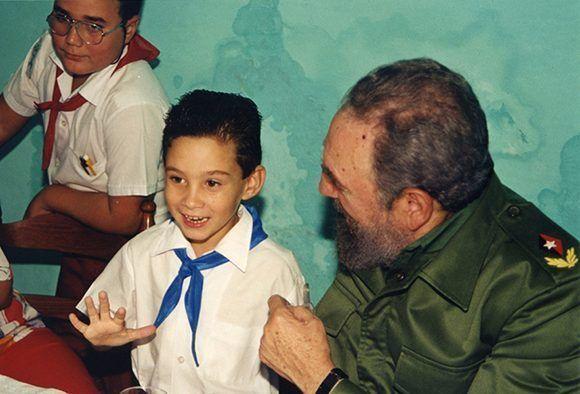 Fidel Castro en la escuela del niño Elián González, en Cárdenas, Matanzas.