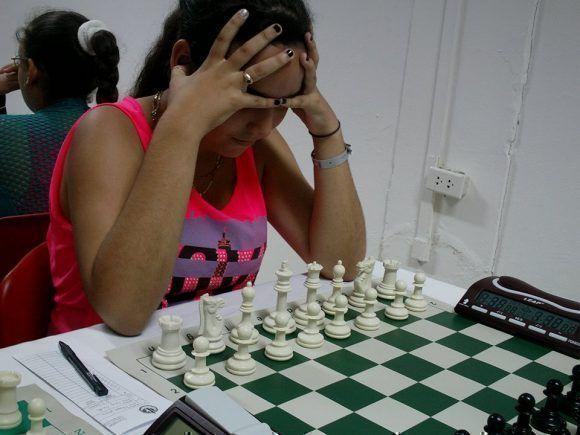 Participa en el Grupo Infantil-escolar, la Maestra FIDE de 13 años,Roxangel Obregón,campeona nacional escolar por dos años consecutivos. Foto: Rogmary García/ Cubadebate.