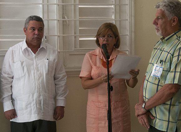 Gisela María Duarte Vázquez, presidenta de la CCN en la sede de la Comisión Electoral Nacional. Foto: Irene Pérez/ Cubadebate.