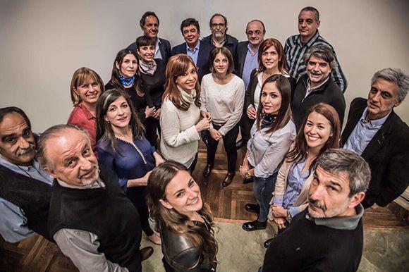 Cristina Kirchner se reunió ayer en el Instituto Patria con los candidatos a diputados de Unidad Ciudadana. Foto: @CFKArgentina