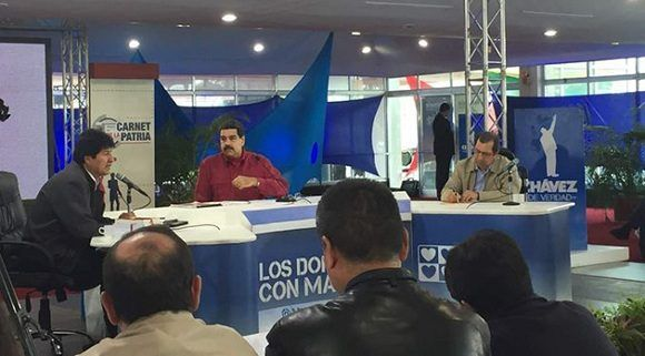 El presidente de Venezuela, Nicolás Maduro, en su programa dominical. Foto: AVN.