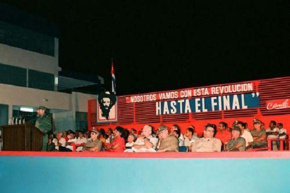 Acto conmemorativo del XXX Aniversario de la desaparición física de Camilo Cienfuegos, 28 de octubre de 1989. Fotos: Fidel Soldado de las Ideas / Estudios Revolución