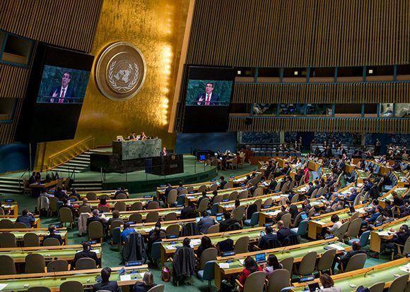 Este miércoles, el mundo ratificó su apoyo a Cuba y condenó una vez más al bloqueo con 191 votos a favor y solo Estados Unidos e Israel en contra. Foto: @CubaMINREX/ Twitter.