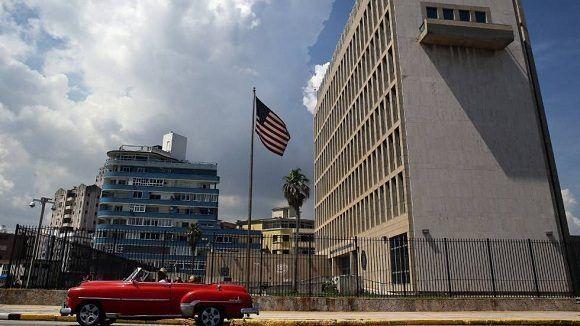 Embajada de los Estados Unidos en Cuba. Foto: EFE.