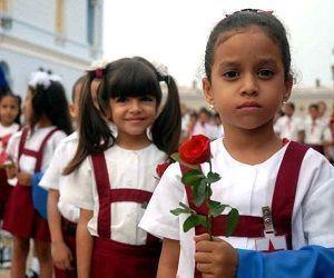 El acceso a una educación gratuita es uno de los grandes logros en Cuba en materia de derechos humanos. Foto: Archivo.