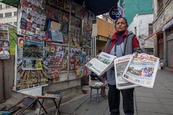 Periódicos en La Paz. Foto: Gonzalo Pardo/ The New York Times
