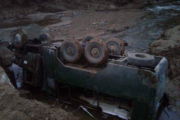 El vehículo que se volcó fue un Zil 13. Foto: Tomada de CMHW.