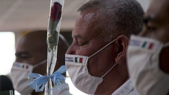 Regreso de Brigada Medica cubana de Italia. Foto Ismael Francisco Cubadebate
