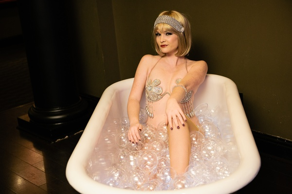 Wild Roaring 20s Party Has Dame In Bathtub Of Bubbly