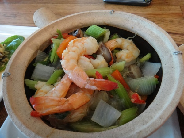 Clay pot at Pakpao Thai restaurant in Dallas