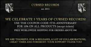 5th anniversary Cursed Records
