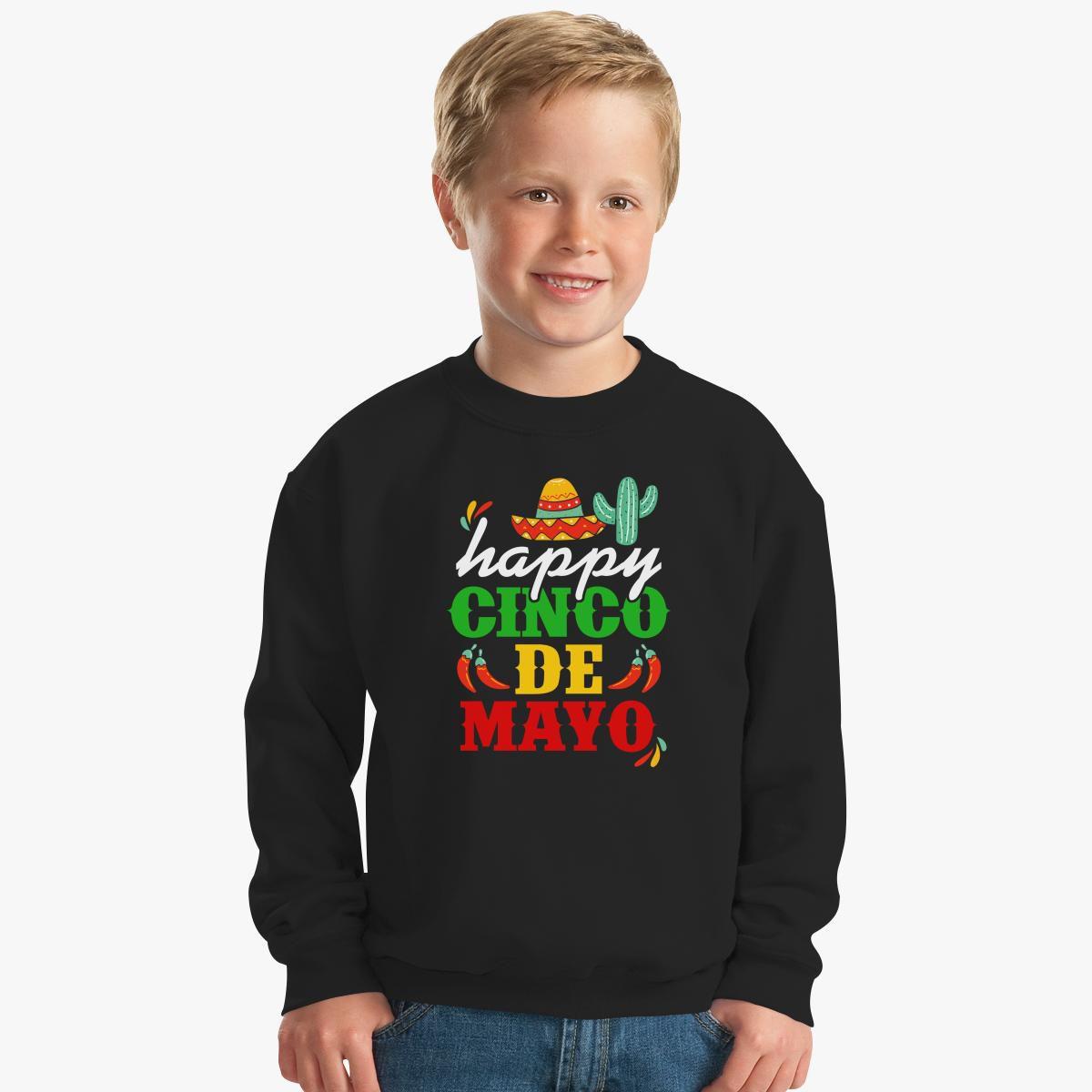 Happy Cinco De Mayo Kids Sweatshirt