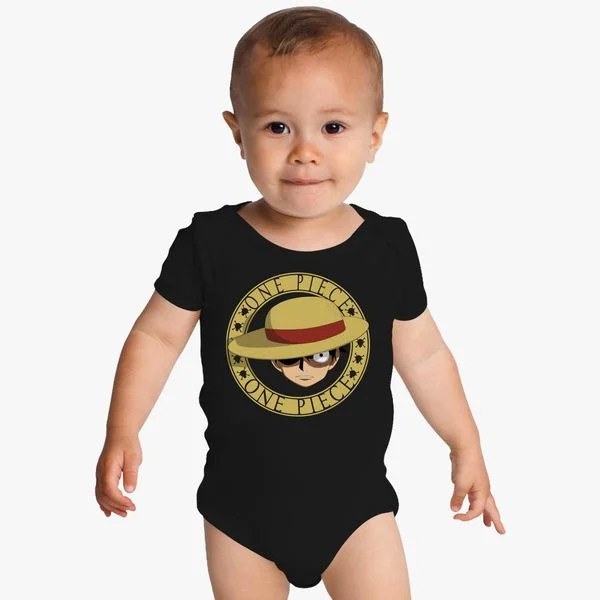 Kids', toddler, & baby clothes with luffy designs sold by independent artists. Liiren Luffy Soft Bodysuit For Infant Black Baby Baby Boys Royabazaar Com