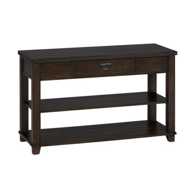 Jofran Sofa Table TV Stand In Cassidy Brown Finish 561 4