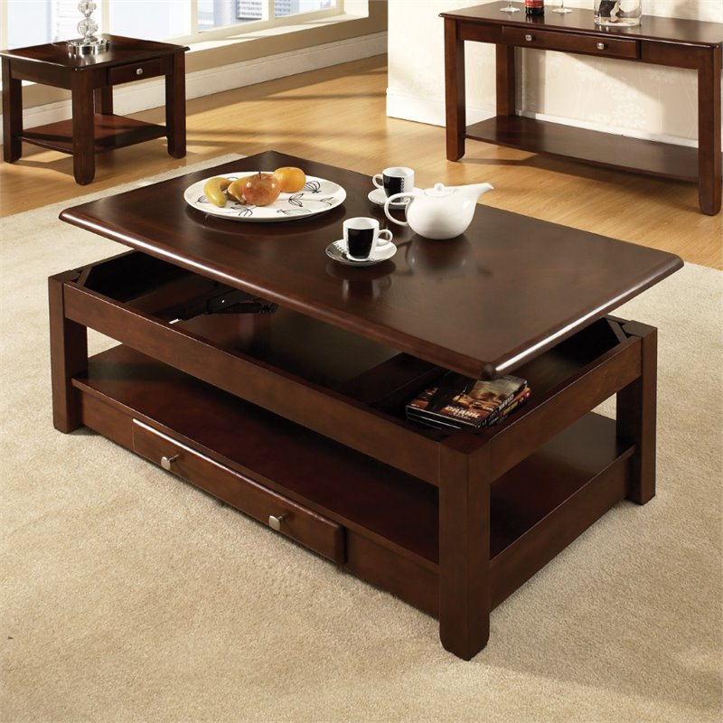 Steve Silver Nelson Lift Top Coffee Table In Cherry NL300CLC