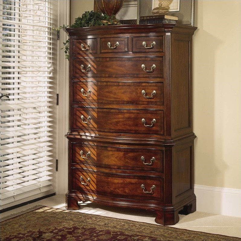 American Drew Cherry Grove 8 Drawer Chest In Antique