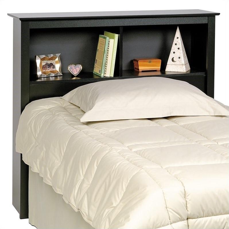Black Twin Xl Bookcase Platform Storage Bed Bbx 4105 Kit