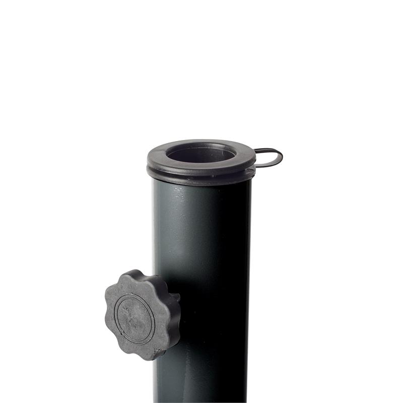 corliving dark gray metal patio umbrella stand