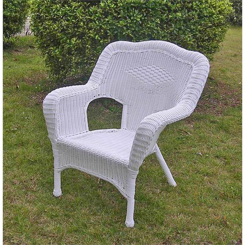 international caravan monaco resin patio chair in white set of 2