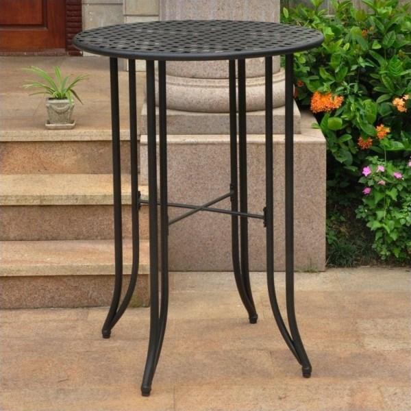 outdoor patio bar height tables Bar-height Patio Table in Antique Black - 3467-TBL-ANT-BK