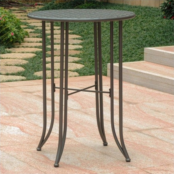 outdoor patio bar height tables International Caravan Mandalay Bar-height Patio Matte